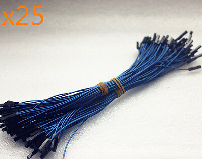 25Stk 1p-1p 5 Colors Female to Female Dupont Wire Jumper Kabel 20cm für Arduino