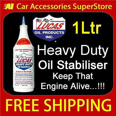 Chrysler Lucas Heavy Duty Oil Stabiliser GearBox Treatment 1Ltr Reduces Noise