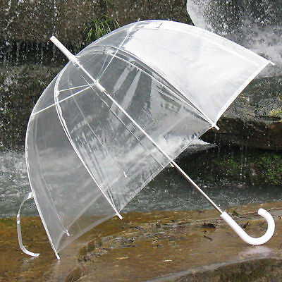 New Bubble Dome Shaped Clear See-through Rain Umbrella No Trim