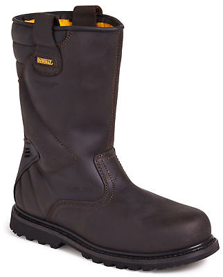 DeWALT Rigger SBP brown leather safety work boot with midsole size 5-13 UK