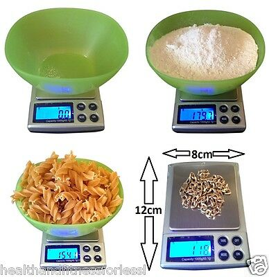 LCD Digital Kitchen Cooking Weighing Compact Scales 0.1g -1kg