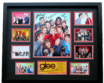 New Glee Lea Michele Cory Monteith Jane Lynch Signed Limited Edition Memorabilia