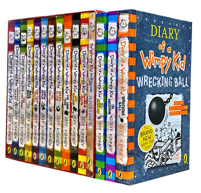 Diary of a Wimpy Kid Collection 14 Books Set Jeff Kinney Meltdown, Getaway