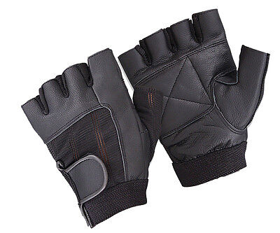 Weight Lifting Padded Leather Gloves Body Building Bike Gym Sports Wheel Chair