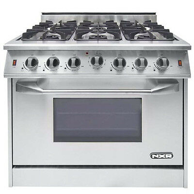 """NXR Pro Style Gas Range 36"""" 6 Burners-See Xtra Discount"""