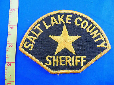 SALT LAKE COUNTY UTAH SHERIFF EMBROIDERED CLOTH PATCH-FREE US SHIPPING