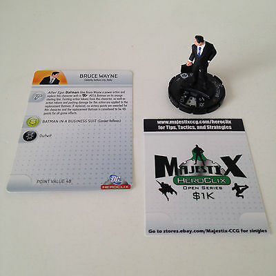 Heroclix Brave and the Bold set Bruce Wayne #001 Common figure w/card!