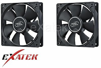 2 x Deepcool XFAN80 Silent 80mm Hydro Bearing Case Fan 20db 4-pin Molex