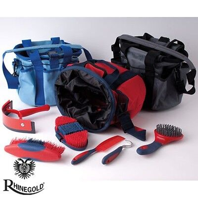 Rhinegold Soft Touch Grooming Kit With Bag – Red, Blue, Grey **FREE P&P**