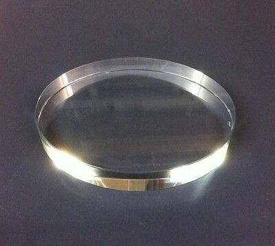Oval Glass Paperweight Clear
