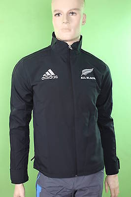 Anthem All Blacks New Zealand Adidas Training Jacket 2014 15 Black ZIP POCKETS
