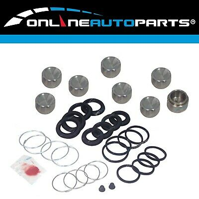 Front Brake Caliper Rubbers Pistons Repair Kit Landcruiser 80 Series 8/1992-1998