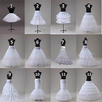 Wedding Prom Petticoat Crinoline Underskirt Hoop/Hoopless/Mermaid/Fishtail Slips