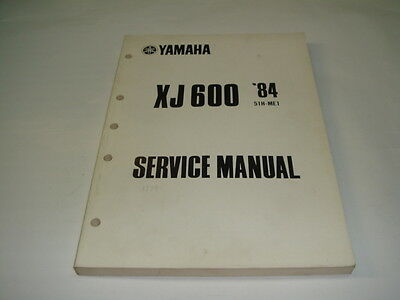 manuale officina service manual in inglese Yamaha XJ 600 '84 codice  51H -ME1