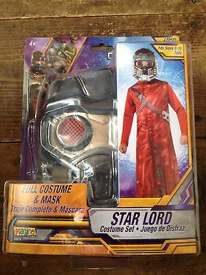 Guardians of the Galaxy STAR LORD MASK AND COSTUME Size 8-10