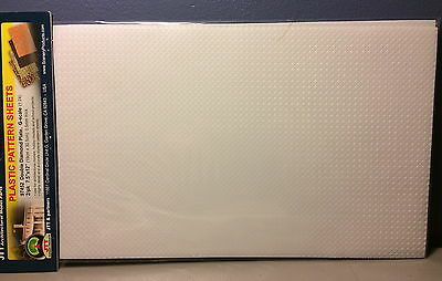 "JTT SCENERY 97452 DOUBLE DIAMOND PLATE 1:24 G SCALE (2) 7.5"" x 12"" SHEETS"