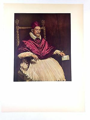 """1954 Vintage Full Color plate /""""Detail Of The Spinners/"""" by Velazquez Lithograph"""