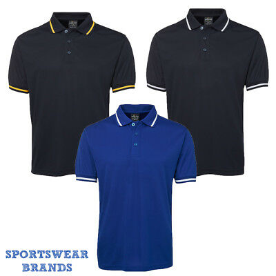 Mens Bold Polo Fitness Gym Quick Dry Sports Adults Royal Black Navy White 7BP