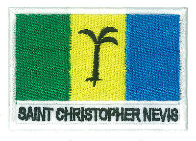 écusson brodé patche patch drapeau ST CHRISTOPHE NEVIS 70/45 mm