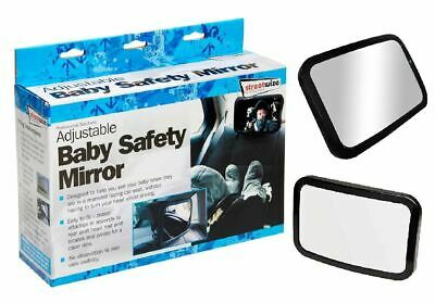 Streetwize Car Baby Child Safety Mirror Extra Large Easy to Fit Adjustable SWBM2