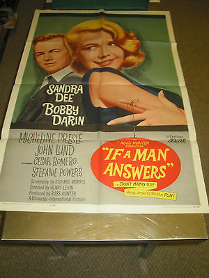 If A Man Answers/orig. U.s. One Sheet Movie Poster (Sandra Dee/bobby Darin)