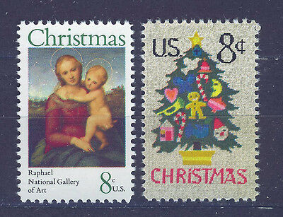 ESTADOS UNIDOS/USA 1973 MNH SC.1507/1508 Christmas