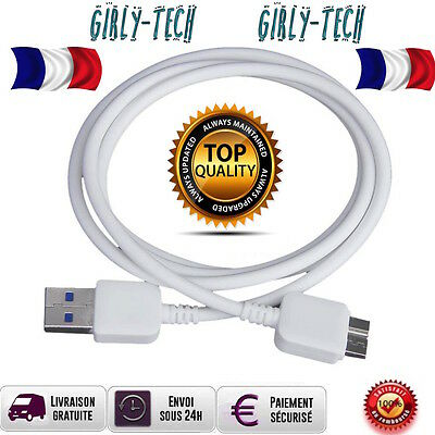 CABLE CHARGEUR SAMSUNG S5 - GALAXY NOTE 3 - USB/MICRO USB 3.0 BLANC et NOIR