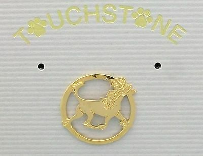 Chinese Crested Jewelry Gold Pin by Touchstone