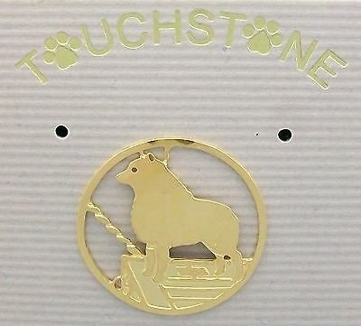 Schipperke Jewelry Gold Clutch Pin by Touchstone
