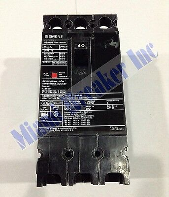 HHED63B020L Siemens Molded Case Circuit Breaker 3 Pole 20 Amp 600V (New)