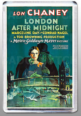 LONDON AFTER MIDNIGHT movie poster LARGE FRIDGE MAGNET - LON CHANEY classic!