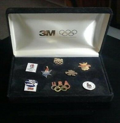Collectible 1992 Winter Olympic Pins Set of Eight