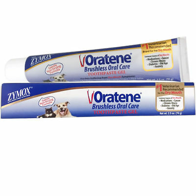Zymoz Oratene Maintenance Oral Care Gel Pet Brushless Toothpaste 2.5oz