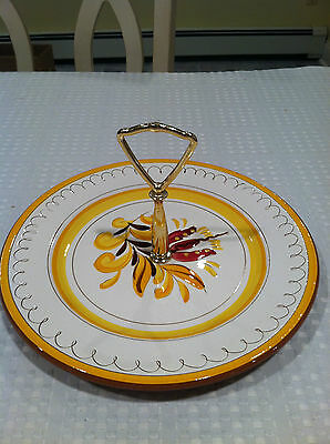 Vintage STANGL Pottery 10 inch Handled Serving Plate Platter excellent condition