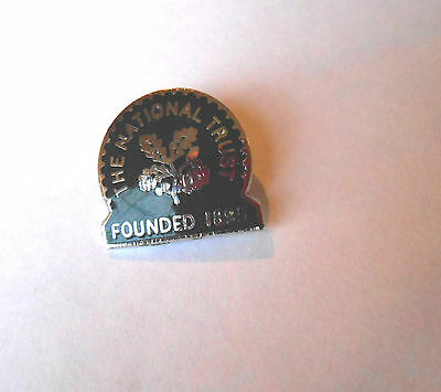 Vintage The National Trust Bank Does Not Entitle to Free Admission Pin Pinback