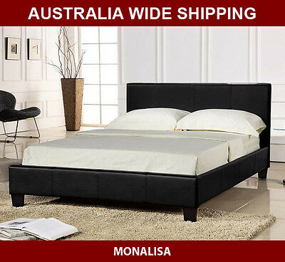 Brand New Monalisa PU Leather Bed Frame- Single/King Single/Double/Queen/King
