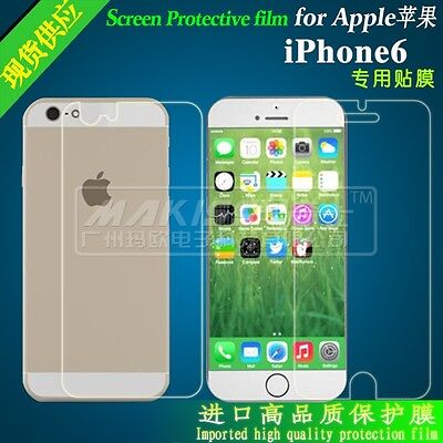 Ultra Clear Front and Back HD scratch Screen Protector for iPhone 5s.6.6plus