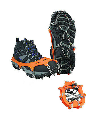 Mountaineering 8-teeth Antislip Crampons Ice Snow Climb Shoe Spikes Grippers