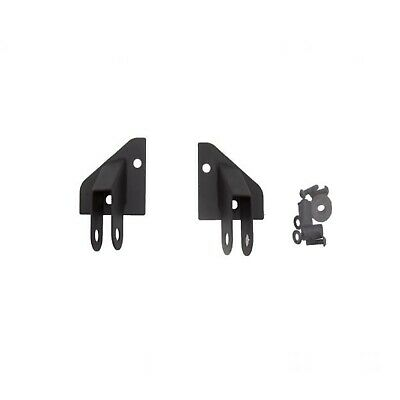 Rampage 8685 Black Pair of Mirror Relocation Brackets for 87-95 Jeep Wrangler YJ