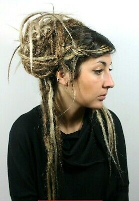 Ombre Brown & Blonde Crochet Dread Falls, Hair Pieces, 20 Inches, Unisex.