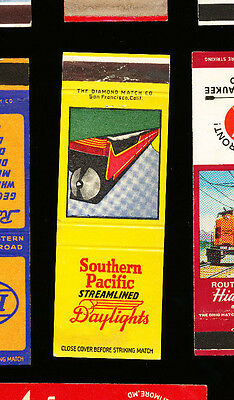 Southern Pacific - Streamlined Daylights - Railroad Matchbook Cover
