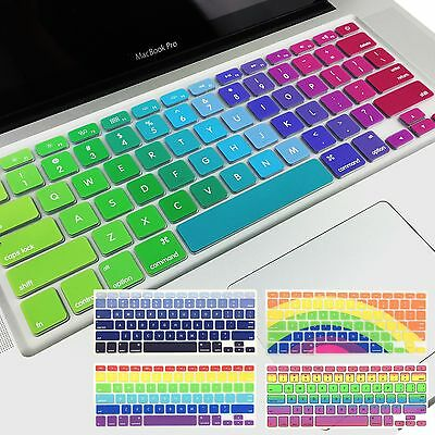 Rainbow Keyboard Silicone Protector Cover for Apple Macbook Air Pro 13 15 Retina