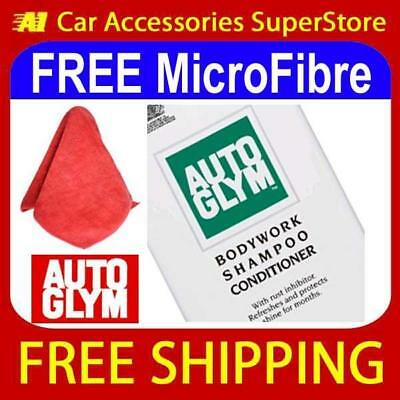AUTOGLYM BodyWork Shampoo Conditioner 500ml + FREE MICROFIBRE