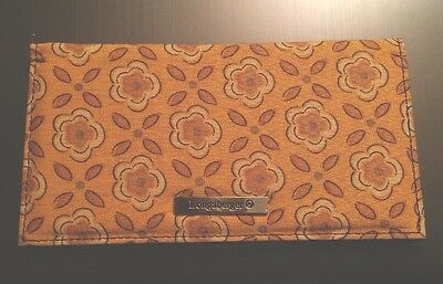Longaberger Checkbook Cover Golden Fields Fabric Sisters Wallet Change