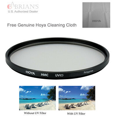 Genuine Hoya 77mm HMC UV(C) Filter Free Hoya Cleaning Cloth US Authorized Dealer