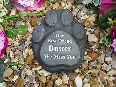Dog Memorial - Paw Print - Personalised - Weatherproof - Perfect in your garden