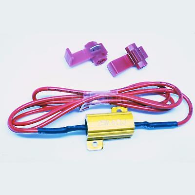 2x RESISTOR CANBUS + 4 CLAMPS RESISTENCIA WARNING CANCELLER CAR COCHE 25W LOAD