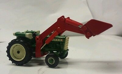1/64 Custom Agco White Oliver 1950T  Tractor W/ Red Oliver Loader Ertl Farm Toy