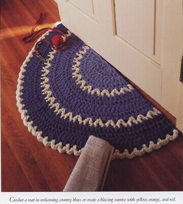 Granny Square Rug Vanna Crochet Patterninstructions New 100