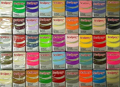 Sculpey III  -  Oven Bake Polymer Clay - Your Choice of  20 x Blocks 57gm